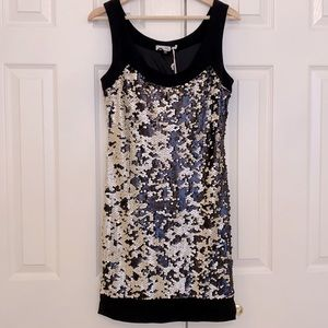 Lily Gold and Black Sequin Dress Size XS/S